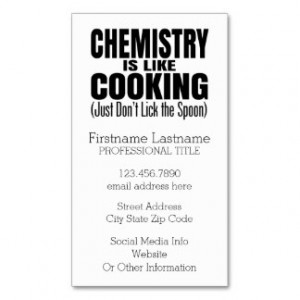 Funny Chemistry Teacher Quote Double-Sided Standard Business Cards ...