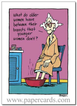 Do Older Women Have (1 card/1 envelope) Oatmeal Studios Funny Birthday ...