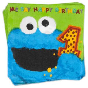 Sesame Street Birthday Cookie Monster Napkins
