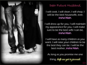 sumber: Dear, Future Husband, help me get to Jannah
