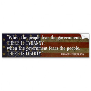 Bumper Sticker - Founding Father Quote