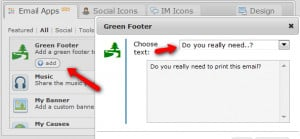 ... email green signature green footers green footer green email green