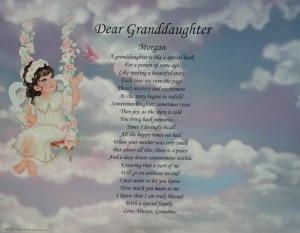 Birthday Poems for My Granddaughter