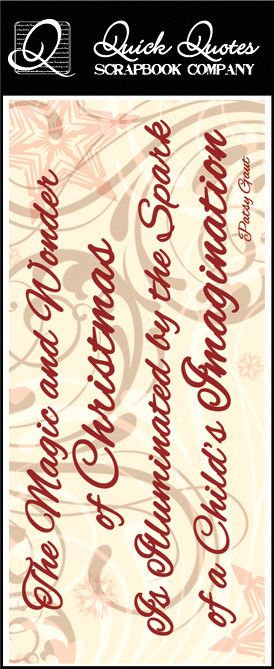 ... - Christmas Collection - Color Vellum Quote Strip - Magic and Wonder