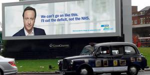 David Cameron NHS poster