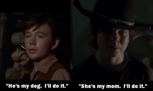 old yeller travis vs carl dead dogs vs dead moms rabies vs babies