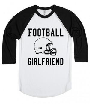 Football Girlfriend tee t shirt black/white