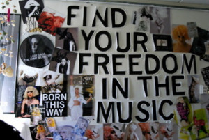 born this way, lady gaga, music, poster, quote