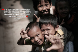 Good charity Quote By Timothy lam~ If we live in a world where ...