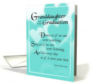 Granddaughter Graduation card (566047)