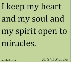 ... Swayze via http://meetville.com/quotes/author/patrick-swayze/page1