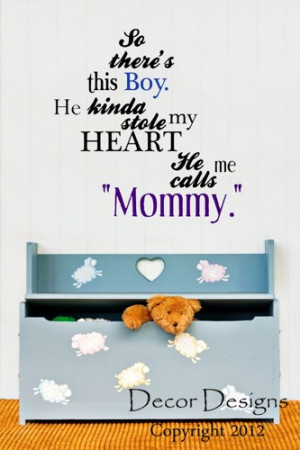 So There's This Boy Mother and Son Quote Wall Decal
