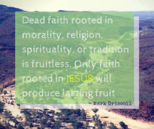 "... rooted in Jesus will produce lasting fruit."" – Mark Driscoll quote"