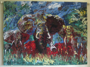 LeRoy Neiman Elephant Stampede