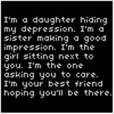 ... Hiding My Depression. I'm A Sister Making A Good Impression… ~ Sad