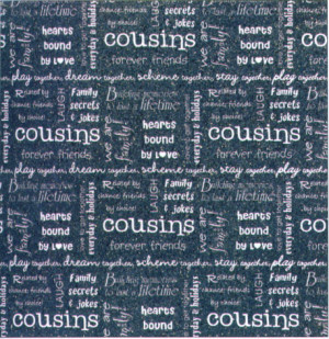Scrapbook Quotes Cousins