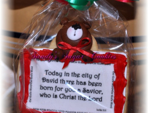 Christmas Quotes Cookies | Sandys Sugar Cookies | San Diego