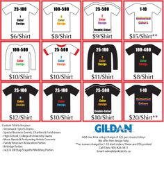 ? We specialize in t shirts for your , High School, Family Reunion ...
