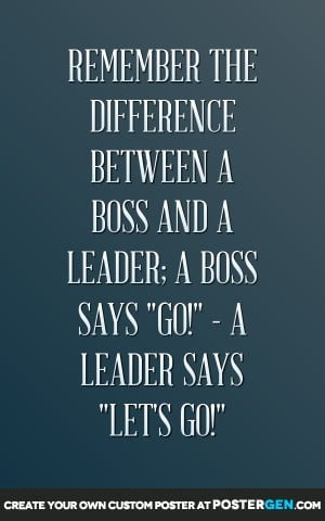 Boss And Leader Print