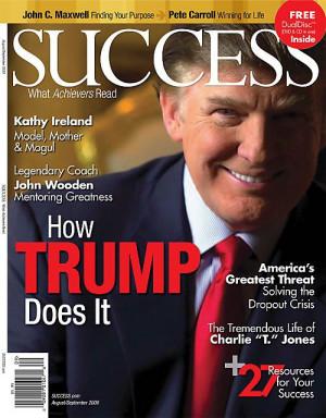 SUCCESS magazine featuring Donald Trump. #ACN #DonaldTrump #Success