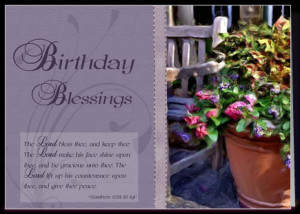 bible verses for birthday blessing