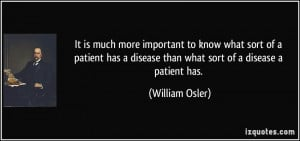 William Osler Quote