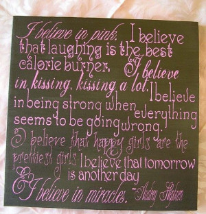 believe in pink audrey hepburn quote by everlastingdoodle i just ...
