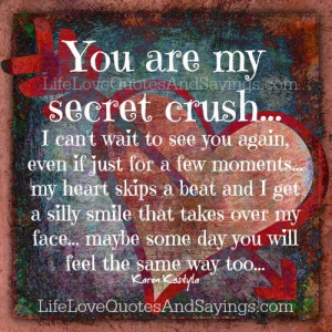 you are my secret crush i can t wait to see you again even if just for ...