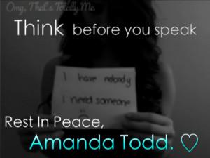 ... bully bullying bullies amanda todd amanda todd sad depression