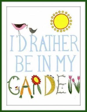Cute saying for mini garden sign
