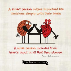 Heart Versus Mind Quotes Quotesgram