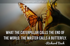 What the caterpillar calls the end of the world the master calls a ...