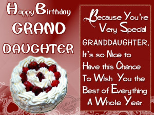 Birthday Wishes for Granddaughter Birthday Cards Greetings