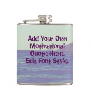 Custom motivational or funny quote,Edit text Flasks