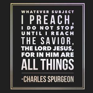 If You Aren't Preaching Jesus, You Aren't Done Preaching