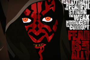 Darth Maul Fear Poster