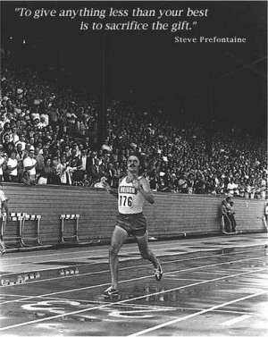 Steve Prefontaine quote poster by The Happy Rower