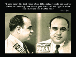 Capone Accused Quote Poster: click to enlarge