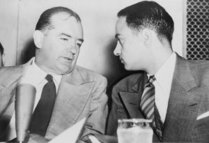 Lawyer Roy Cohn with Sen. Joseph McCarthy.