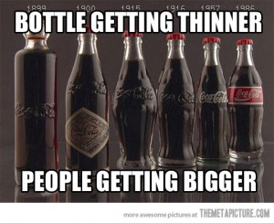 funny coca cola evolution smaller