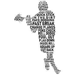 Lacrosse Terminology Wall Art