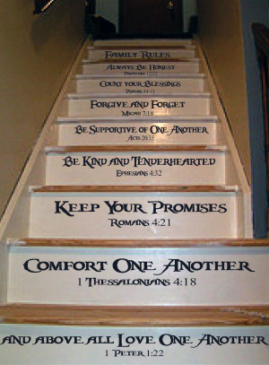 each step of your staircase will be a different family rule with this ...