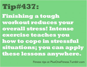 exercising relieves stress