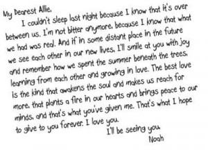the notebook letter.