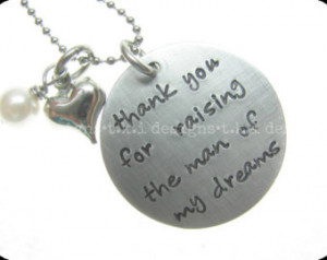 ... - Mother in Law Gift - Wedding Jewelry - Hand Stamped Quote Jewelry