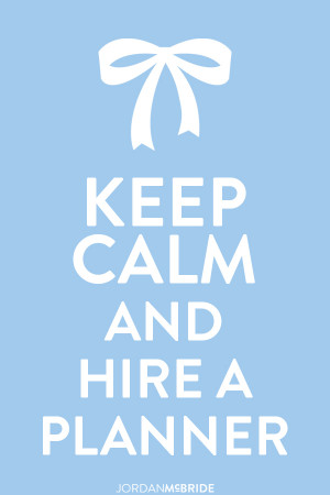 And speaking of hiring wedding planners, I have a great post for you ...