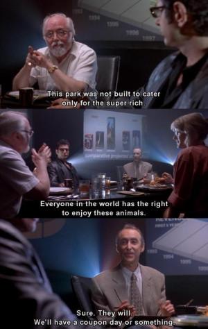 Jurassic Park #Richard Attenborough #Martin Ferrero #quotes #funny # ...