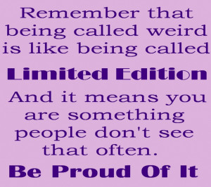 ... Quotes And Sayings About Being Different In Simple Purple Theme Design