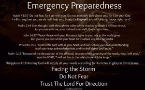 Facing a storm, do not fear, trust the lord for direction!