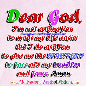 ... Quotes About God And Strength Read more inspirational quotes